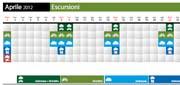 Calendario escursioni