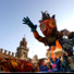 A grand celebration with carnival floats up to 15 metres high and hundreds of figurants in colourful costumes
