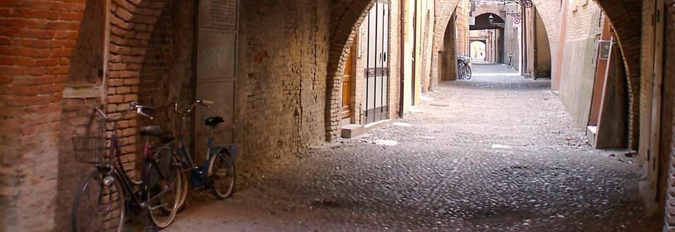 Les rues médiévales de Ferrara