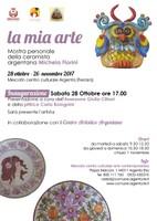 Le opere di Michela Fiorini in mostra al Mercato
