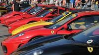 Raduno di auto Ferrari