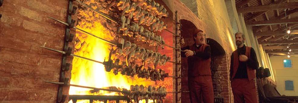 Gli spiedi per la cottura dell'anguilla