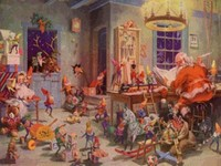 Babbo Natale, gnomi e folletti