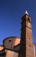 Meta di pellegrinaggi, la chiesa fu inaugurata nel 1666, vicino ad un olmo secolare, dove era apposta una piccola immagine in gesso della Vergine a cui erano attribuiti poteri miracolosi.