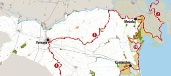 Da Chioggia a Ferrara e Ravenna   MAPPE -  MAPS